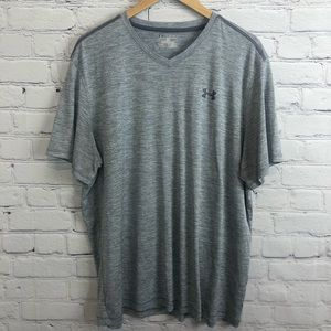Under Armour V Neck Tee Loose Fit Gray Size 2XL